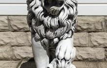 Бетонные скульптура из бетона Лев