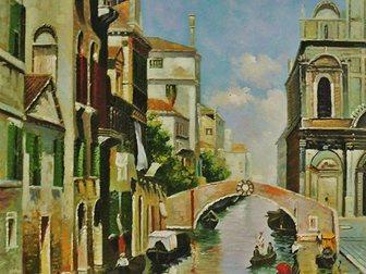 Смотреть фото  Картина маслом Солнечная Венеция 40х50см и др, Ручная работа 33497871 в Кургане