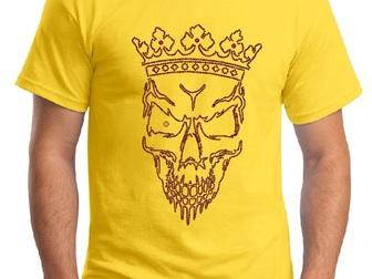 Свежее фотографию  Дизайнерские футболки и иной текстиль с аппликацией стразами и металлом (заклепками) 39331787 в Москве