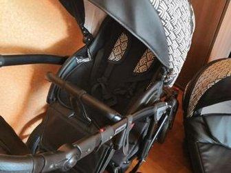 ??Retrus Milano Premium 3 в 1 ??В отличном состоянии????Крутая, модная и красивейшая!!! ,  ??Кожаная ручка с регулировкой по высоте;?? Надувные колеса??Тихое регулировка в Кургане