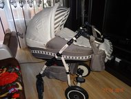Продаю детскую коляску 2 в 1 Пневматические колеса со встроенными, сменными подш