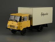 автомобиль на службе №72 Робур ЛД 3000 Промтоварный фургон цвет:жёлто-серый, мас