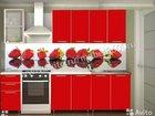 Кухня Радуга 2 м Красная