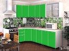 Кухня Радуга 4,3 м зеленая в наличии со склада