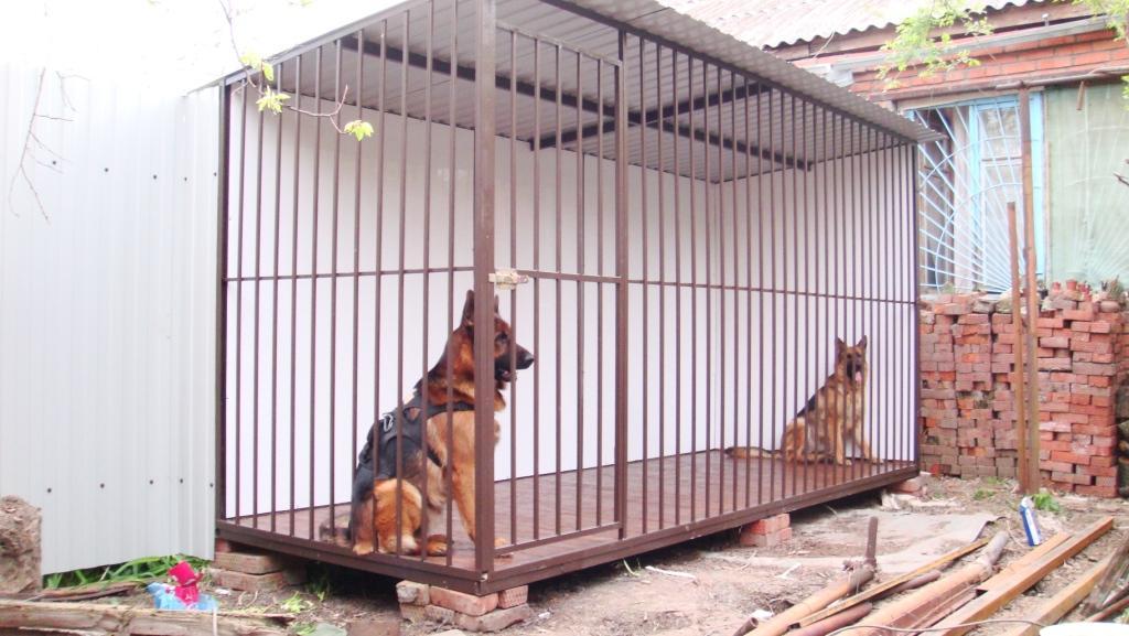 Изготовление вольера для собаки