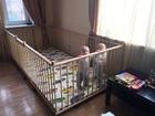 Скачать бесплатно foto Детская мебель Большой детский деревянный манеж 1, 3х2, 6м с калиткой 34700731 в Moscow