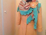 Отдаю шаль ручной работы, Японская шерсть Шаль вывязана вручную крючком.     Пря