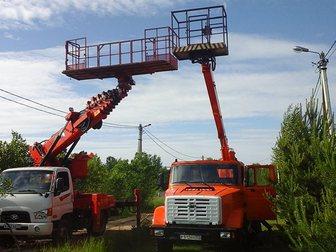 Скачать бесплатно фото Грузовые автомобили Аренда автовышки 12-28 м большая люлька-балкон 33002971 в Москве
