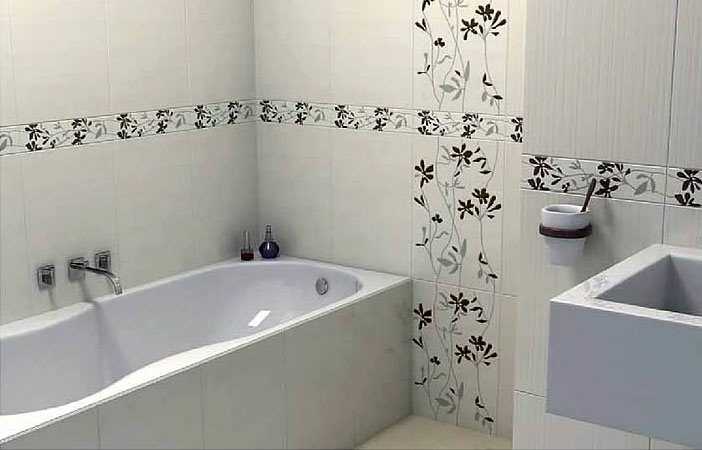 Ванны дизайн кафеля