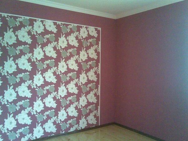 Дизайн оклейки обоев в комнате