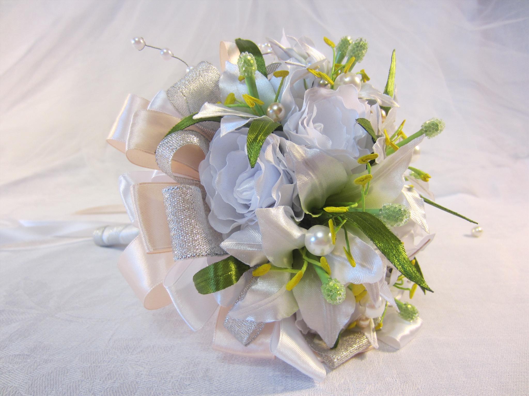 Пошаговое фото изготовления свадебных букетов