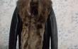 Кожаная куртка Италия мех волка, новая, размер