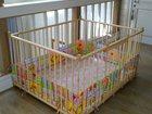 Уникальное foto Детская мебель Манеж детский деревянный 1,2х1,5м 33919544 в Москве