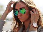 Уникальное изображение Часы Солнцезащитные очки Ray Ban Aviator (сине-зеленые, золотая оправа) 34698710 в Москве