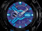 Фотография в Одежда и обувь, аксессуары Часы Часы G-shock 110RG, черно-голубые  артикул: в Москве 1199