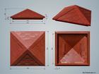Фото в   Реализуем колпаки для кирпичных заборных в Перми 780