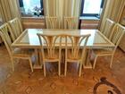 Новое изображение Мебель для гостиной Обеденная группа фабрики Turri Kristal стол 210х100см, и 8 стульев 38635543 в Москве