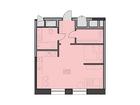 Продаются апартаменты площадью 47,3 кв.м на 18 этаже 18 этаж