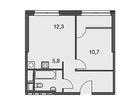 Продаются 1-комн. апартаменты площадью 43.5 кв.м на 7 этаже