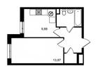 Продается 1-комн. кв-ра площадью 35,07 кв.м на 1 этаже 17 эт