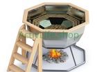 Скачать бесплатно фото Разное Банный чан на дровах на металлической подставке на 4-6 человека 68469342 в Москве
