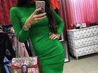 Уникальное фотографию  Вязаное теплое платье Лапша 70550898 в Москве
