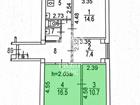 Номер лота: 3132968, Продаются 2 комнаты (смежные) в 4-х ком