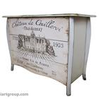 Расписная мебель из массива с художественным декором