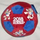Плюшевый мяч 17 см с Волком Забивакой FIFA-2018