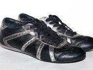 Кеды Levis чёрные 38 р-р Кеды Levi`s кожа  чёрные с серебряными вставками  38 ра