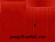 Ворота распашные металлические Изготовим распашные ворота для гаража.   Рама из