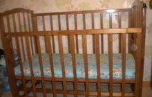 Детская кроватка-маятник,деревянная