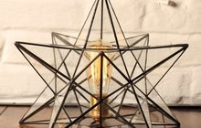 Светильник с ретро-лампочкой «Звезда»