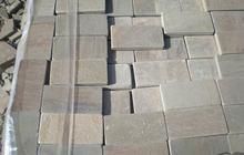 Камень натуральный плитка пиленый+галтованный природный