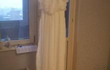 Платье белое в пол, р, 48