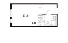 Продается квартира-студия в 5-ти минутах ходьбы от станций м