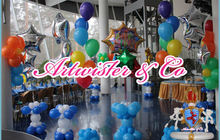 Оформление воздушными шарами день рождения