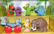 Каменный век с динозаврами 7 фигурок, игровой набор