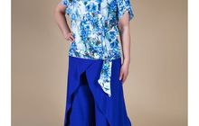 Модная стильная блузка Нежность большого размера