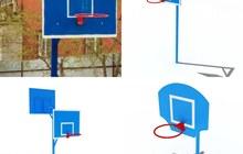 Баскетбольная стойка с кольцом