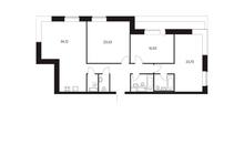 Новостройка! Продается 3-комн. кв-ра площадью 123,97 кв.м, (