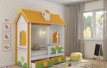 Детская мебель для детской комнаты - кровать Домик