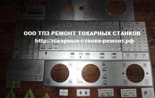 Шильдики к станкам 1к62, 16в20, 16к20, 1в62, мк6056, 1м63, 1м65
