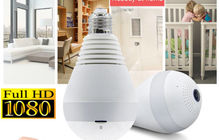 Лампа IP Камера Wi-Fi 1080P на 360°