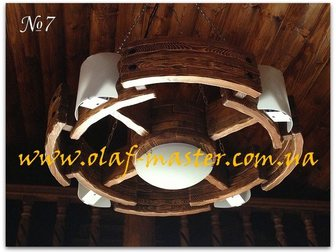 Свежее изображение  Светильники, люстры, бра из дерева под старину 32515519 в Москве