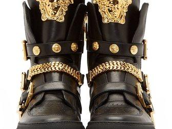 Новое фотографию Мужская обувь Сникерсы Versace leather medusa high-top 32605049 в Москве