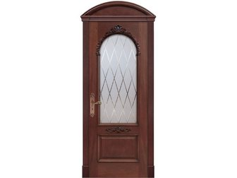 Скачать изображение  Межкомнатная дверь Dariano Porte, Барбара, красное дерево, гравировка Англия, 32669945 в Москве