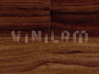 Скачать фото  Виниловое напольное покрытие Vinilam с механическим замком, КС1905 грецкий орех, 32880800 в Москве