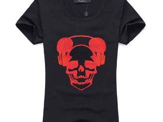 Свежее foto Женская одежда Футболка Philipp Plein Skull Headphones 33055652 в Москве