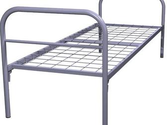 Уникальное фотографию  Одноярусные металлические кровати от производителя, Железные армейские кровати, Опт, 33146619 в Москве